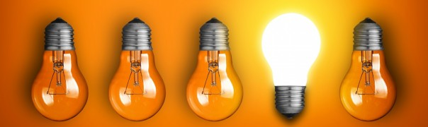 Idea-concept-with-row-of-light-bulbs